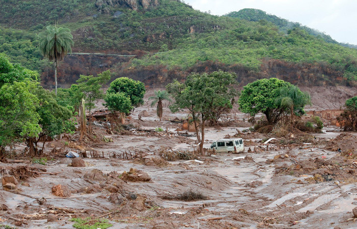 A tragédia de Mariana, em Minas Gerais, completou três anos na última segunda-feira e foi provocada pelo rompimento de uma barragem. Foto: Rogério Alves/TV Senado