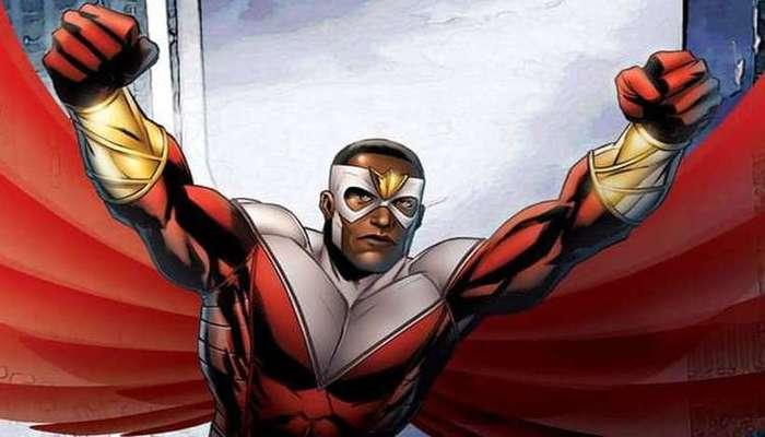 O Falcão aparece em filmes do Universo Marvel e foi o primeiro herói afro-americano. Foto: Marvel/Reprodução