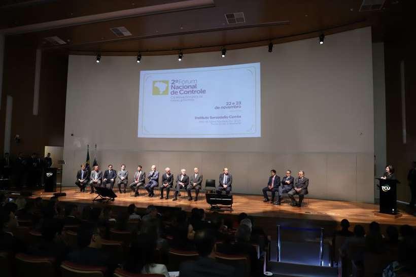 Evento do tribunal contou com presença do presidente Temer e do vice eleito, Hamilton Mourão. Foto: Samuel Figueira/TCU