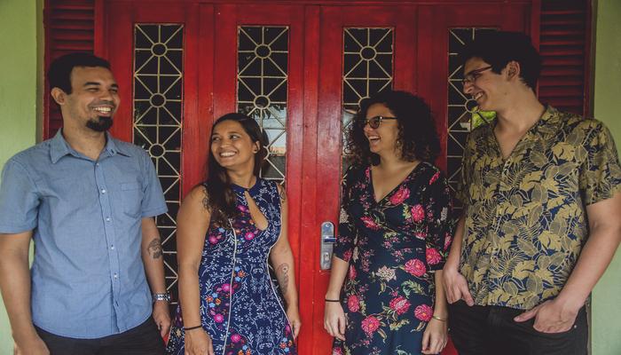 A banda está em processo de gravação do seu primeiro EP com músicas autorais. Foto: Divulgação