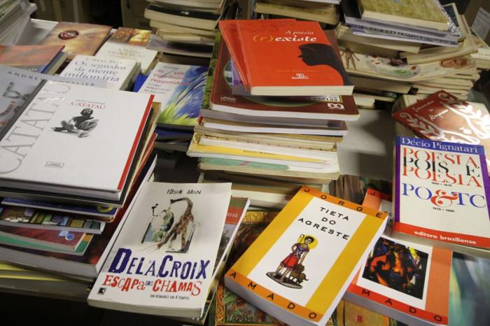 Os dados são da pesquisa Retratos da Leitura no Brasil (2016), que diz que 44% da população não lê e 30% nunca comprou um livro.Foto: Cido Marques/ FCC