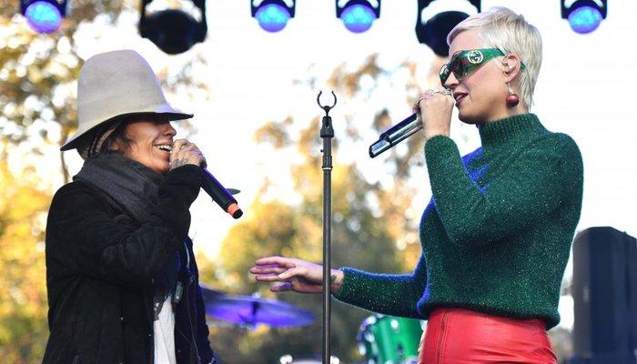 A cantora Katy Perry foi uma das estrelas do One Love MalibuFoto: AFP/Getty Images