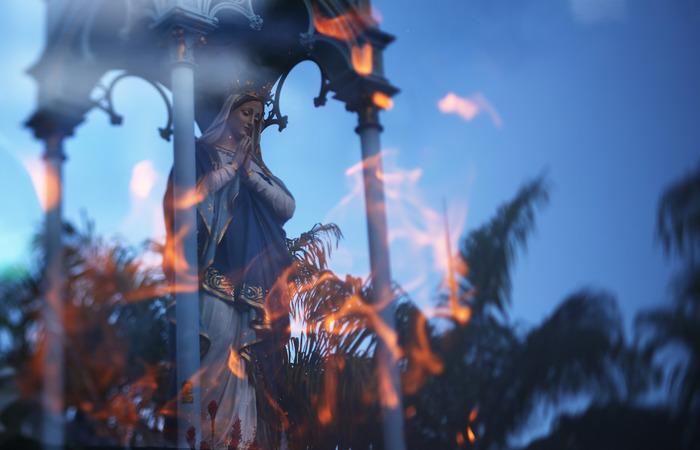 Ao longo do dia, católicos prestam homenagem à santa. Foto: Peu Ricardo/DP