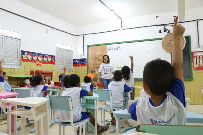 A rede municipal de educação de Olinda conta 68 unidades educacionais. Foto: Secom/Divulgação.