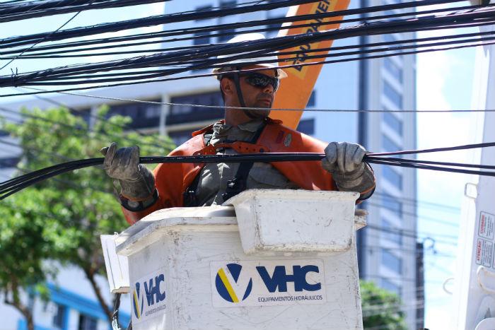 Foram realizadas inspeções na rede de distribuição e transmissão. Foto: Marlon Diego/Esp.DP.