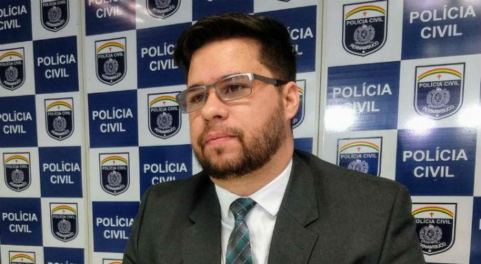 O delegado Diego Aciolli investigou o caso. Foto: Polícia Civil de Pernambuco/Divulgação.