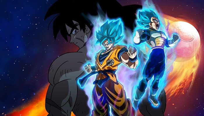 No filme, Goku se transforma em super saiyajin blue. Foto: Divulgação