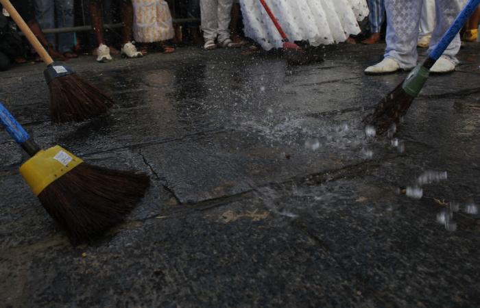 A Lavagem do Bonfim ou Águas de Oxalá pede paz para os 365 dias do ano. Foto: Mandy Oliver/Esp.DP