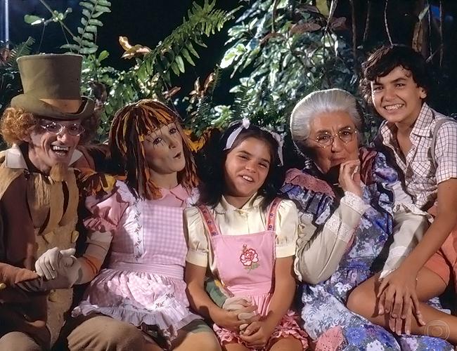 A primeira versão do Sítio para a televisão, em 1977. Foto: TV Globo/Divulgação.
