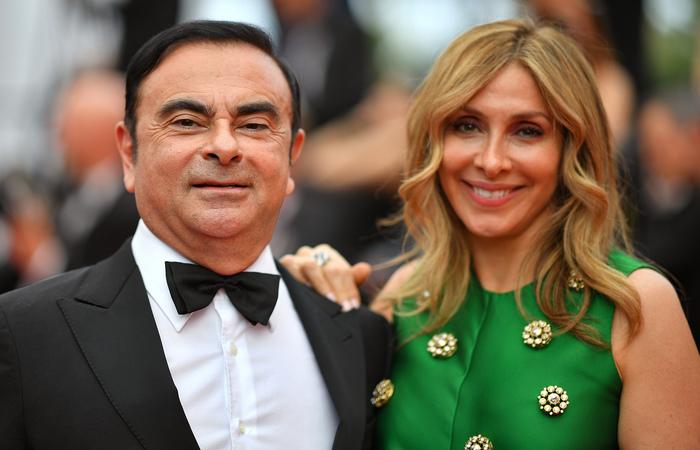 Carlos e Carole Ghosn. Foto: LOIC VENANCE / AFP