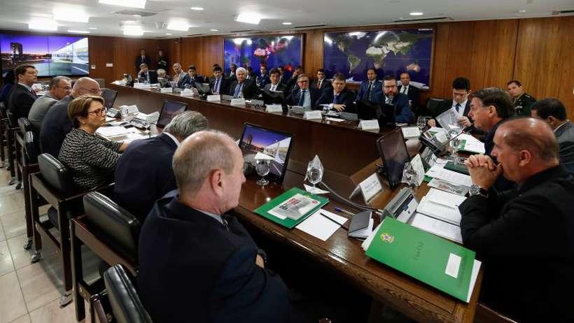 Reunião ministerial: assunto entrou em debate mas ainda não havia consenso sobre alguns pontos. Foto: Alan Santos/PR
