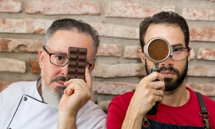 Harmonização é conduzida pelo chocolatier Mário Wanderley e pelo barista Ramon Gondim. Foto: Filipe Ramos/Divulgação.