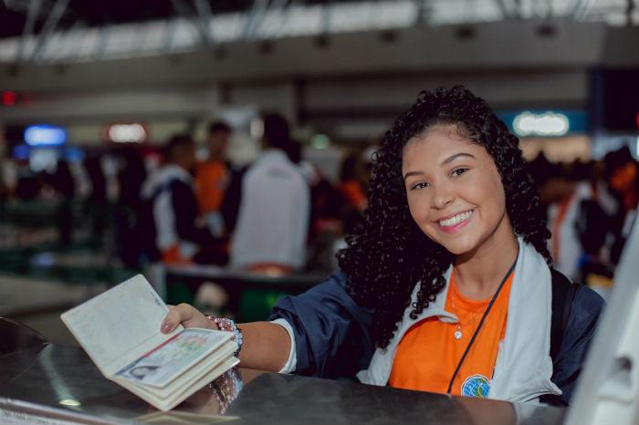 O Ganhe o Mundo leva, desde 2012, estudantes da rede estadual para o exterior. Foto: Pedro Menezes/Divulgação.