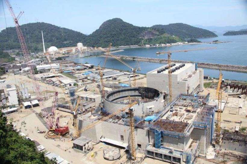 Instalações da usina de Angra 3, em Angra dos Reis, no Rio de Janeiro. Foto: Eletrobras/Divulgação