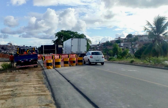 Obras BR-101. Foto: Divulgação DER