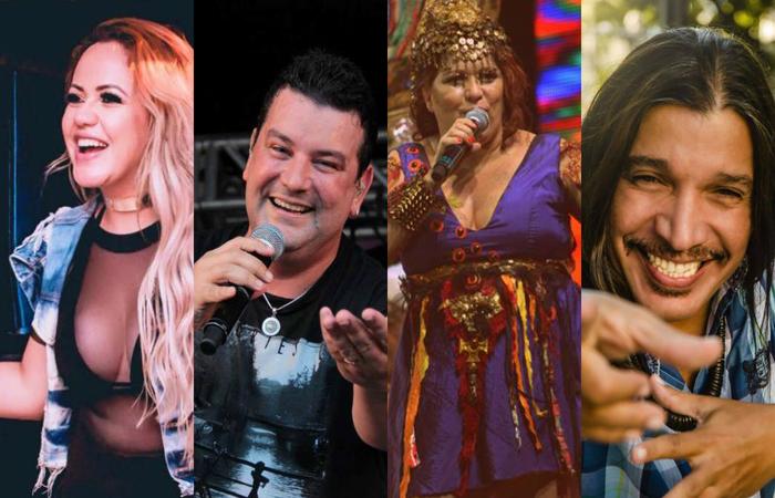 Participam também os cantores Michelle Melo, André Rio, Nena Queiroga e Ed Carlos. Foto: Reprodução/Facebook