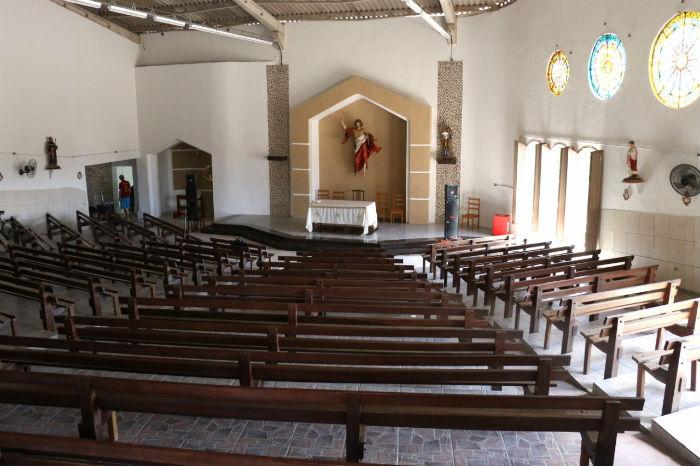 Nova sede da Paróquia Nossa Senhora dos Prazeres fica na antiga Capela Jesus Redentor, em Maranguape 2. Foto: Gabriel Melo/Esp.DP.