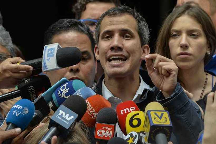 Trump foi o primeiro governante a reconhecer Guaidó. Foto: Luis Robayo / AFP