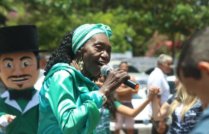 A cantora Lia de Itamaracá é uma das homenageadas deste ano. Foto: Camila Pifano/Esp.DP