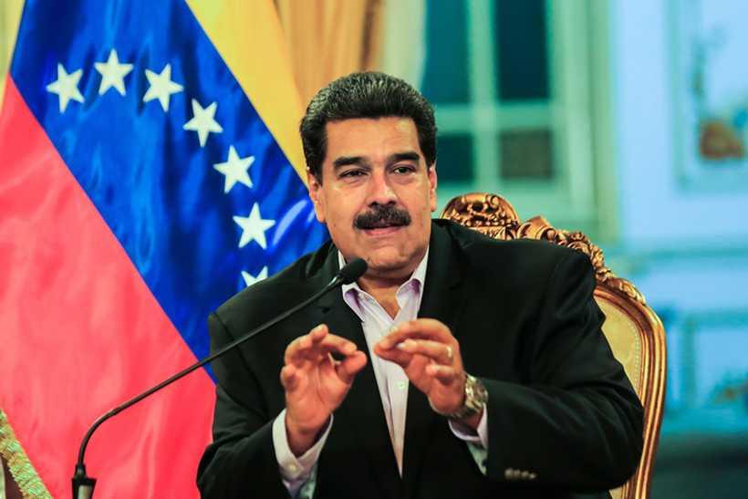 O líder opositor demandou garantias de que o chavista de fato implementaria quaisquer promessas feitas nessas tratativas. Foto: Ho / Venezuelan Presidency / AFP