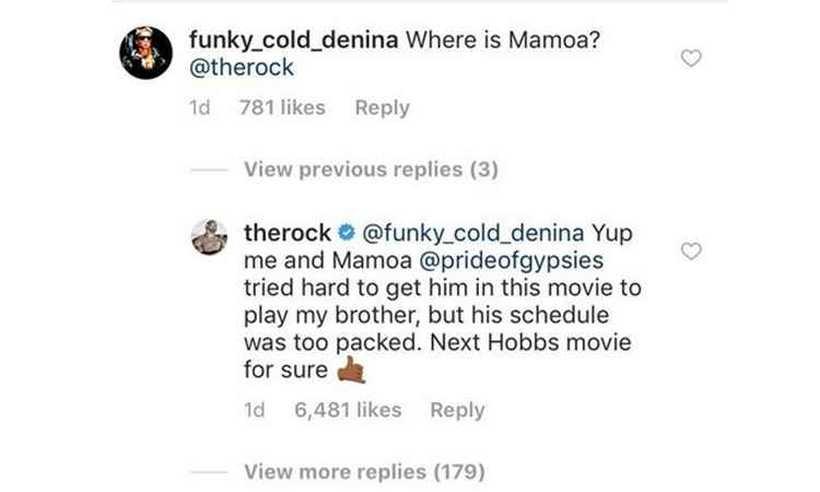 Astro respondeu fã nas redes sociais. Foto: Instagram