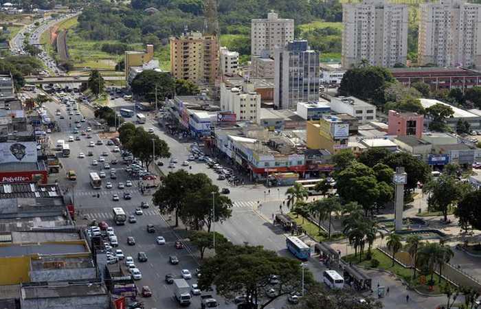 Crime aconteceu na C1, no Centro de Taguatinga, às 5h da segunda-feira. Foto: Marcelo Ferreira/D.A Press