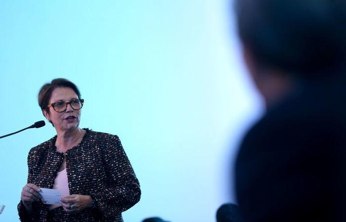 A ministra da Agricultura, Tereza Cristina, defende assento para o ministério no Conselho Monetário Nacional. Foto: Wilson Dias/Agência Brasil