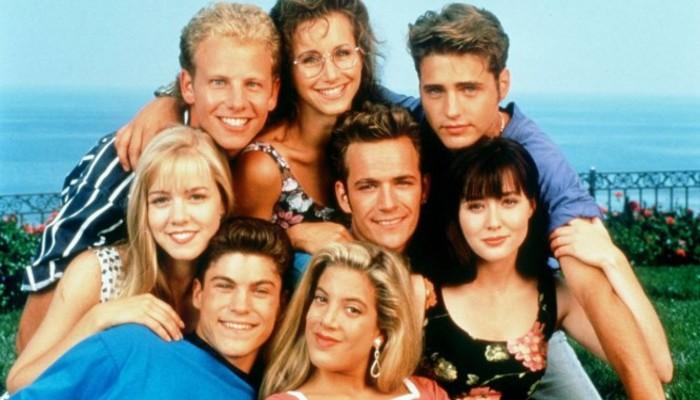 Elenco original de 'Barrados no Baile', série de muito sucesso nos anos 1990. Foto: Reprodução