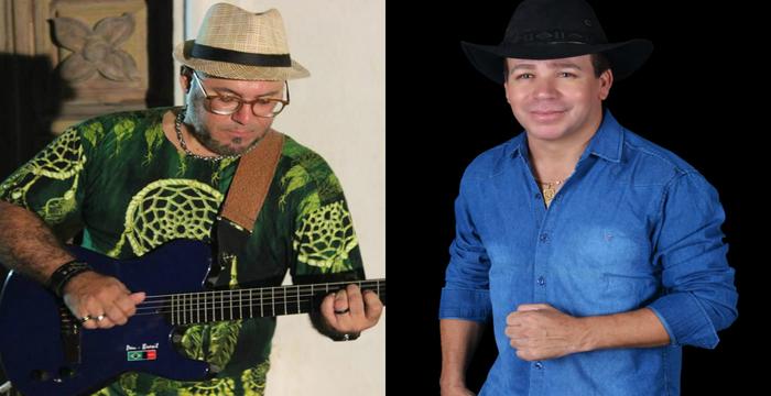 O violonista Pepysho Neto e o forrozeiro Galego do Pajeú são duas atrações do projeto que acontece amanhã à noite. Foto: Cortesia