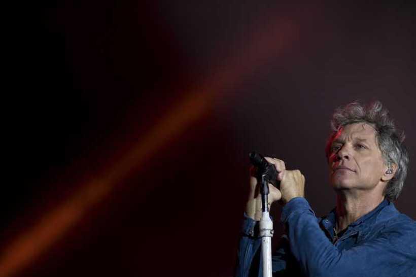 Jon Bon Jovi, a banda já se apresentou nas edições de 2013 e 2017 do Rock in Rio. Foto: AFP / MAURO PIMENTEL