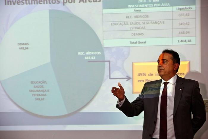 Secretário da Fazenda, Décio Padilha, detalhou que investimentos de Pernambuco poderiam ultrapassar os R$ 5 bilhões, mas fecharam em 2018 aplicando R$ 1,6 bilhão. Foto: Diego Nigro/Divulgação