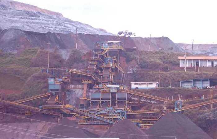 Vale estima impacto de 30 milhões de toneladas de minério de ferro na sua produção, com a paralisação da barragem Laranjeiras da Mina de Brucutu, em São Gonçalo do Rio Abaixo. Foto: Marcelo Sant'Anna/EM/D.A Press