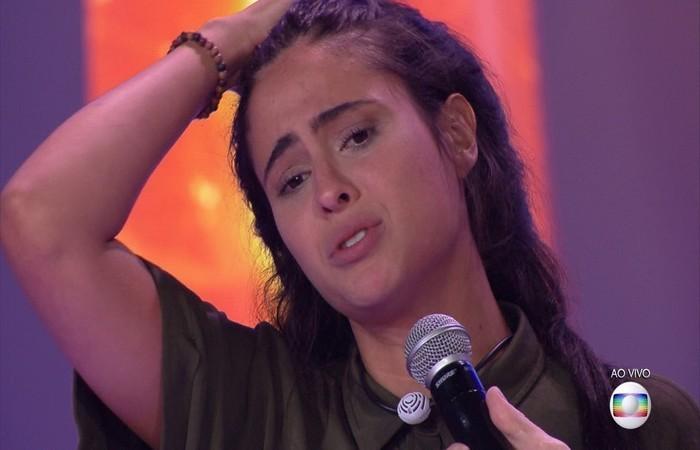 Em café da manhã com Ana Maria Braga, a eliminada disse que se surpreendeu com Diego e falou sobre as polêmicas no reality. Foto: TV Globo