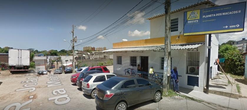 Acidente aconteceu em frente a posto de saúde. Foto: Google Street View/Reprodução.