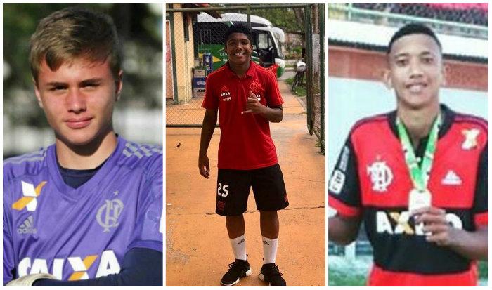 Bernardo Pisetta, à esquerda, Vitor Isaías, ao centro, e Athila Paixão, à direita. Fotos: Reprodução/Facebook