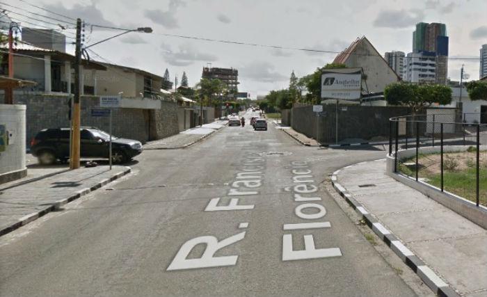 Concentração e largada na rua Francisca Lira Florêncio. Foto: Reprodução Google Maps