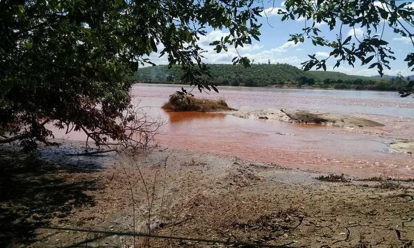 Lama de rejeitos de minério que sedimentou as margens e ilhas do Rio Doce impediram pesca e produção, trazendo prejuízo para pequenos agricultores e pescadores. Foto: Charles Albert/Divulgação