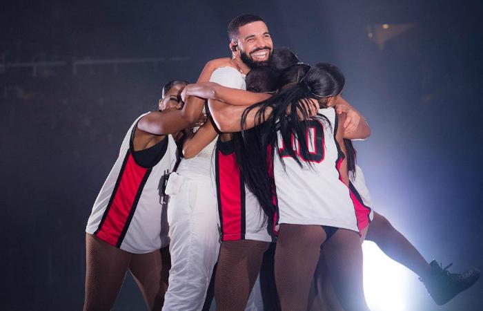 O canadense Drake é o segundo artista em número de indicações. Foto: Instagram/Reprodução.