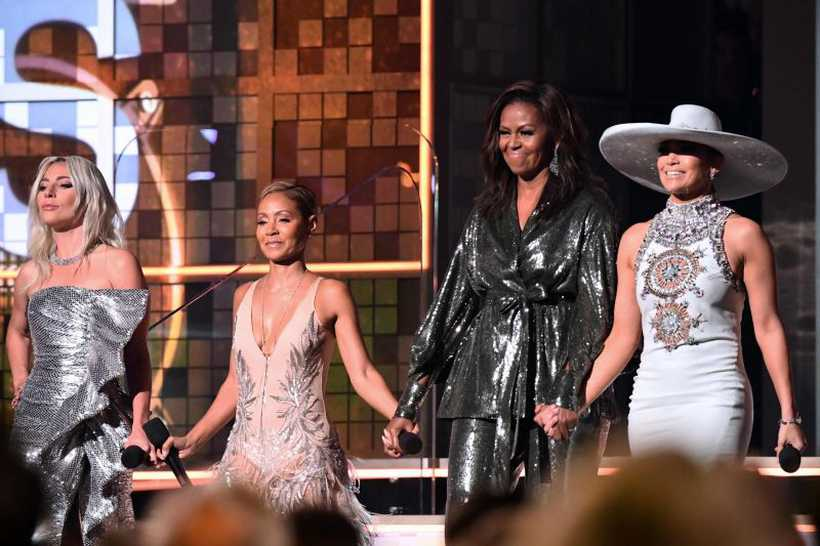 Lady Gaga, Jada Pinkett Smith, Michelle Obama e J.Lo. Foto: AFP / Robyn Beck