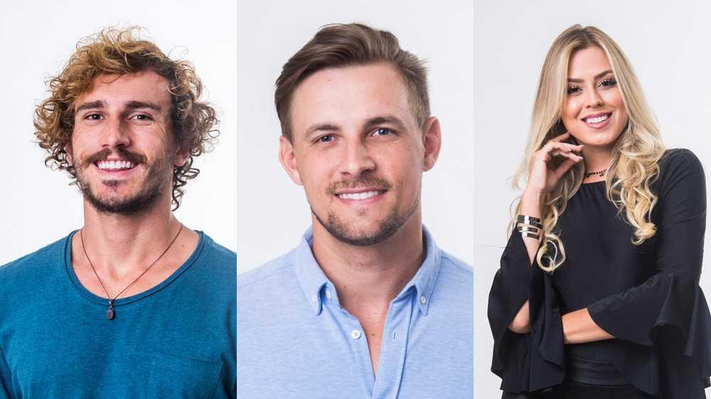 Diego e Isabella foram indicados pelos Líderes Danrley e Elana. Com três votos, Alan foi o mais votado pela casa. Foto: TV Globo/Divulgação