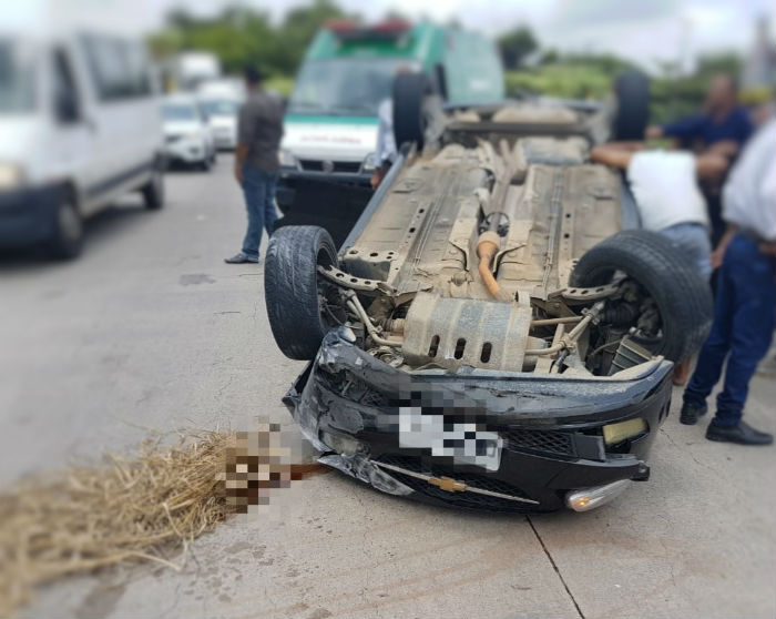 Acidente ocorreu por volta das 11h20, no km 31 da BR 232. Foto: Divulgação /PRF