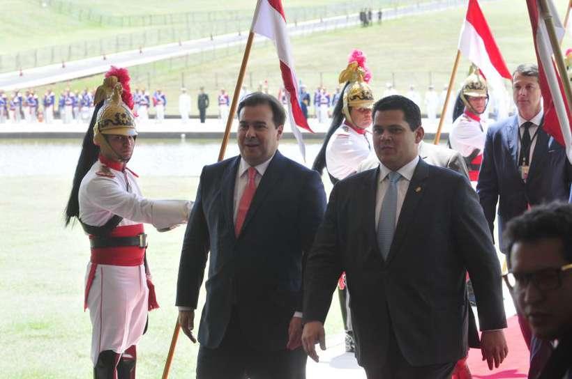 Presidente do Senado, Davi Alcolumbre (D), e da Câmara, Rodrigo Maia (E). Foto: Minervino Junior/CB/D.A Press
