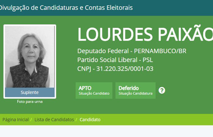 Candidata é suspeita de cometer fraude eleitoral. Foto: Reprodução/Justiça Eleitoral