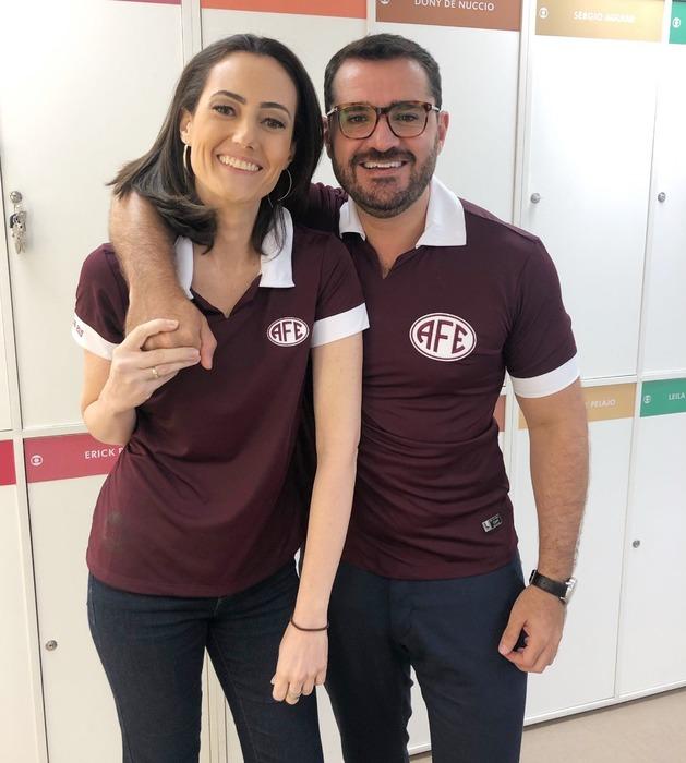 Marcelo Cosme e a amiga Raquel Novaes. Foto:  Arquivo pessoal