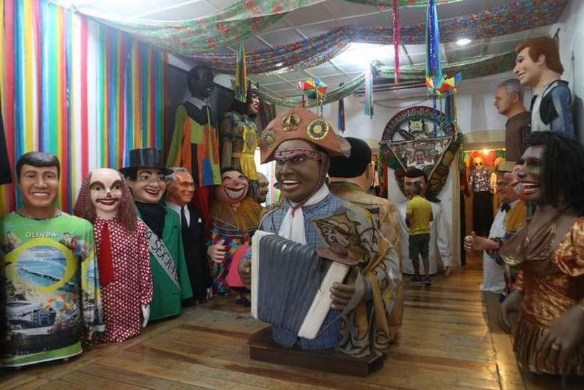 Visita a Casa dos bonecos gigantes de Olinda. Foto: Guga Matos/SeturPE