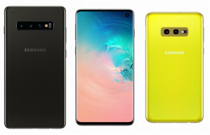 Galaxy S10 , Galaxy S10 e Galaxy S10e. Foto: Divulgação