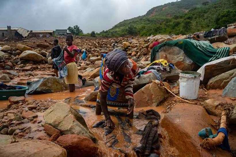 O ciclone, que provocou deslizamentos e inundações, deixou pelo menos 202 mortos em Moçambique e 100 no Zimbabué. Foto: Zinyange Auntony / AFP