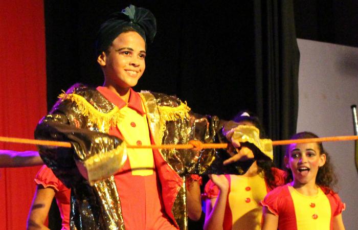 Kauã Crystiano Lins, de 14 anos, entrou na Escola Pernambucana de Circo com 8. Foto: EPC/Divulgação