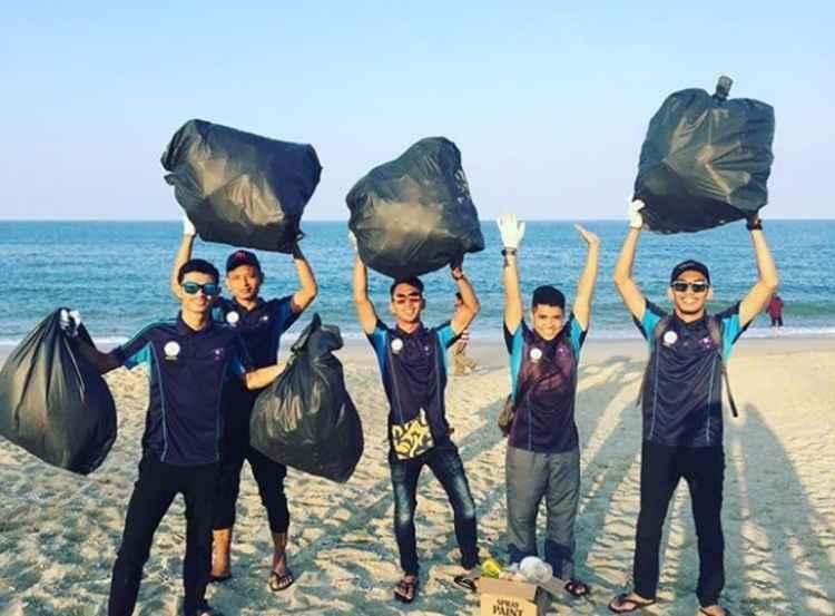 O desafio incentiva pessoas a limparem praias, rios, parques e outros lugares tomados pelo lixo. Foto: Reprodução Instagram/ Threembc