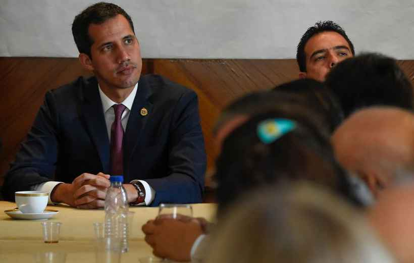 Presidente interino autoproclamado da Venezuela, Juan Guaidó. Foto: Juan Barreto/AFP